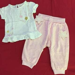 little girl set 3-6months