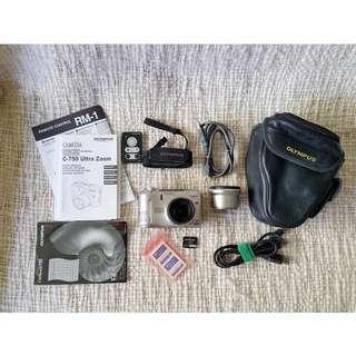 Olympus CAMEDIA C-750 Camera Ultra Zoom Leather Camera Case #digital Adaptor Remote Control 45.6-52 mm #camera #optical #zoom #lens