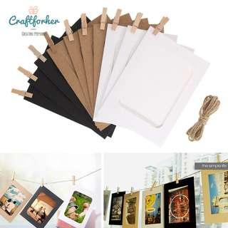 🚚 Paper Photo Frames DIY Wall Photo Decorations, Wedding, Proposal, Party