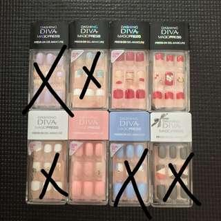 (Sale)Dashing Diva Manicure/Fake Nail/Nail Sticker(pre-glued)30tips/pack