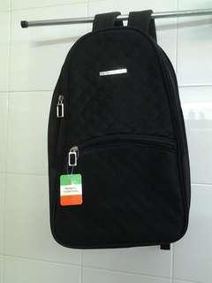 Black Franco Valentino Expandable Backpack