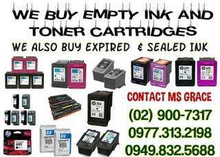 WE BUY EXPIRED BNEW AND EMPTY INK AND TONER CARTRIDGES
