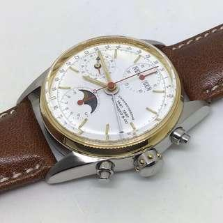 EBERHARD & Co. 1887-1987 Navy Master Triple Date Moonphase Chronograph Watch