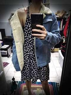 Autumn/Winter Fur Denim Jacket