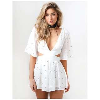 BRAND NEW WHITE PLAYSUIT SIZE S