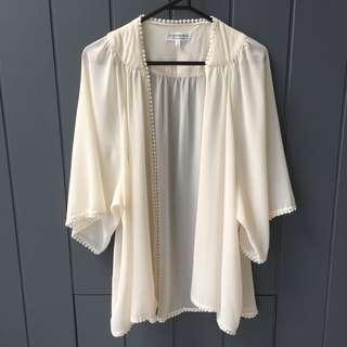 Sheer Cream Kimono