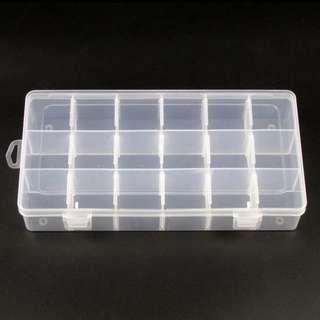 全新透明18格膠盒 儲物盒 密實盒 飾物盒 收納盒 小物盒 collection case 間格可拆
