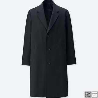 Uniqlo U 黑色 Chesterfield chester coat 徹斯特大衣 羊毛混紡 全新s