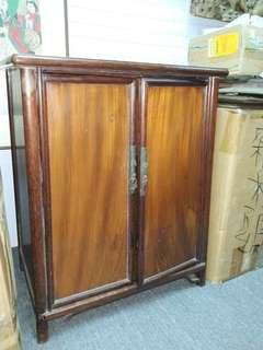 清代 小文房双門櫃( 罕見幾種木材做成!)
