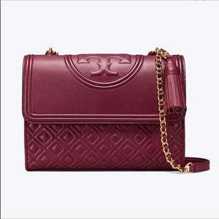 Authentic Tory Burch Fleming Maroon.