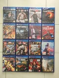 PS4 Games Bundle Deal Top Seller's Choice *7% Discount Straight For Purchase Above $100 + Free Shipping (Brand New Sealed)