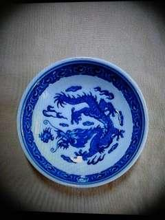 Vintage Old Blue Dragon Mini Porcelain Plates