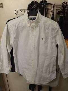 Ralph Lauren White Long Sleeves Polo (authentic)