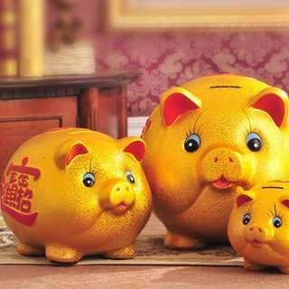 Piggy Coin Bank (3 Sizes)