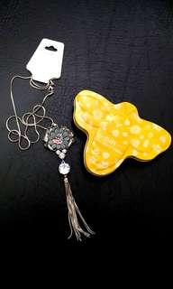 Statement Necklace with Burt's Bees Case