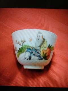 Vintage Old Chinese Porcelain Tea Cup