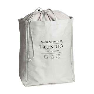 🚚 H&M HOME家居北歐灰髒衣雜物束口棉質收納籃