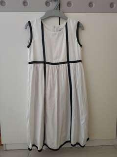 White dress with black combination