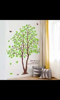🎉New Arrival 2 in 1 Large size Fresh green leaves big tree creative self-adhesive background wall stickers living room bedroom dining room sofa background decorative stickers