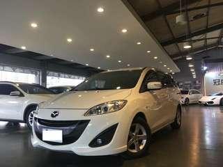 2013 Mazda 5 七人座尊爵型 稀有極品··只跑三萬公里!!導航·倒車顯影·方向盤快速控制鍵 內   外    如   新!!