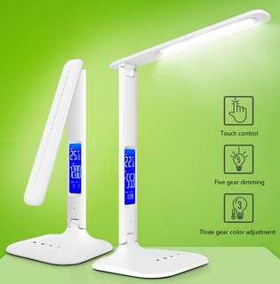 Rechargeable Touch Sensor LED Desk Table Light Dimmable Foldable Lamp-Intl