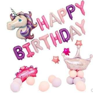 🚚 (In Stock)Unicorn Birthday Party Decoration Set