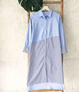 STRIPE BLUE DRESS