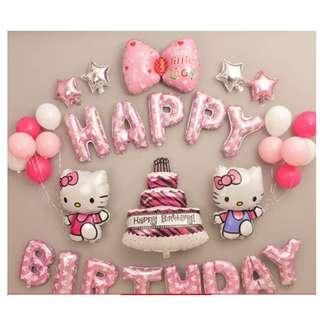 🚚 (In Stock)Hello kitty Theme Birthday Party Decoration Set