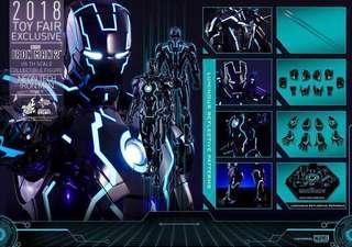 100%全新Sideshow版,啡盒未開,MMS485 Neon Tech Ironman Mark IV