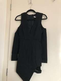 Black Low V Neck Dress