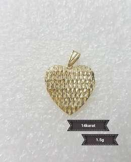 Heart Pendant 14k REAL GOLD PAWNABLE