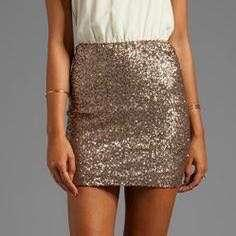 Supre Gold Sequin Skirt