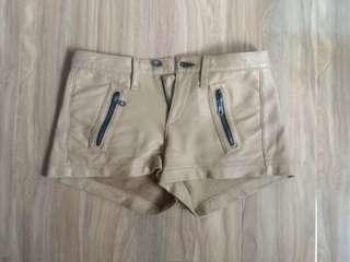 Rag & Bone genuine leather shorts
