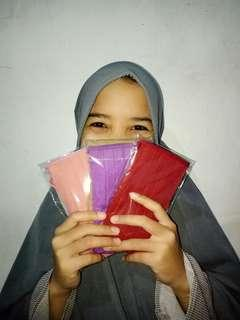 "Promo ""Masker Kain Tali Putus - Sambung"" (masker hijab)"