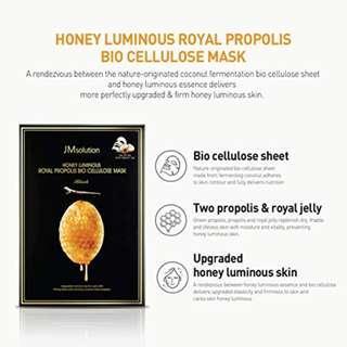 JM Solution Mask Series - Honey Luminous Royal Propolis Mask (Per sheet)