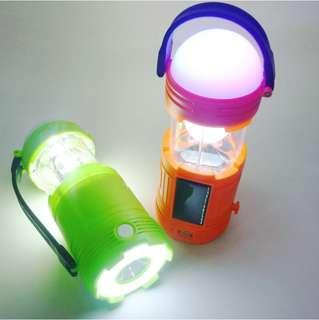 Outdoor emergency light colorful lighting portable camping field searchlight-intl