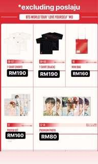 BTS Love Yourself merch in Singapore