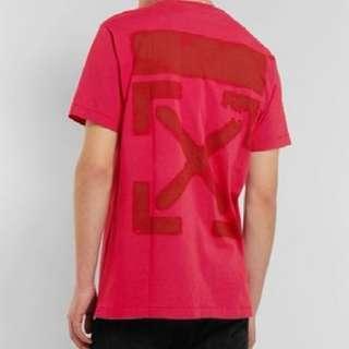 2019 Off-White x Mr. Porter T-shirt (red)