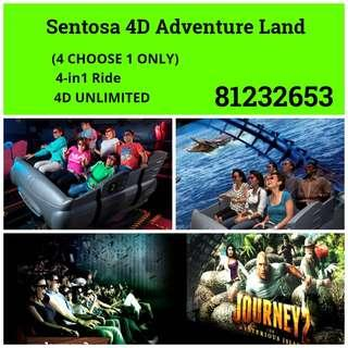 Sentosa 4D Adventure Land  - Any 1 Show / Unlimited / 4in1