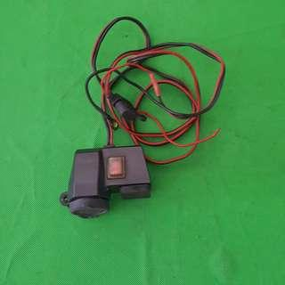 Motorcycle 12V and usb charger