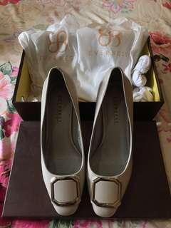 Everbest Grey Wilona Sepatu High Heels / Shoes Authentic 100%