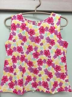 Printed Flora Top