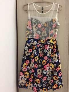 Printed Flora Midi Dress