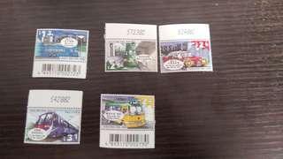 香港陸上交通工具郵票