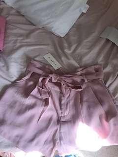 pink mirrou shorts