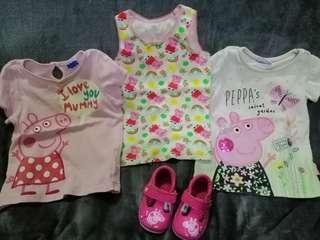 Original Peppa Pig Shirts and Shoes