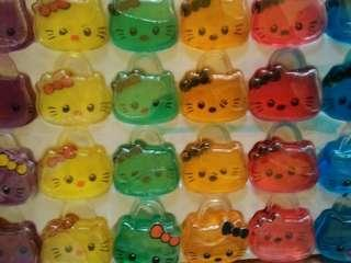 Mainan slime bening warna hello kittt
