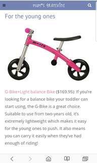 Brand new Micro g-bike balance bike