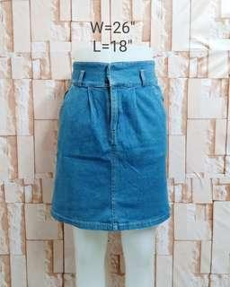 Denim skirt soft denim
