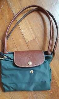 Genuine Longchamp Le Pliage Medium long handle handbag
